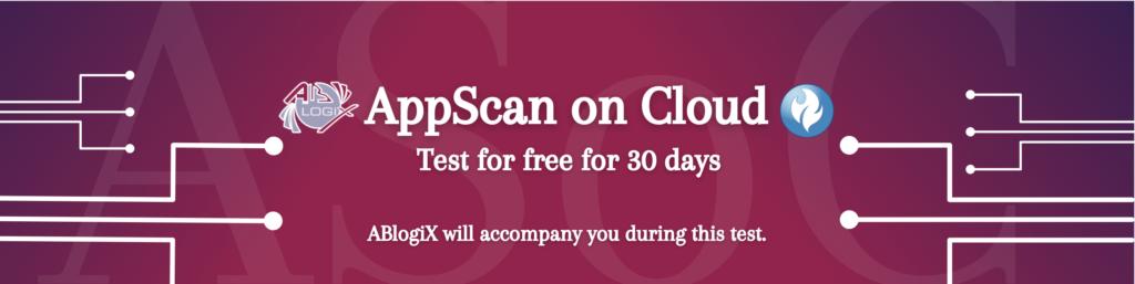 AppScan On Cloud form banner