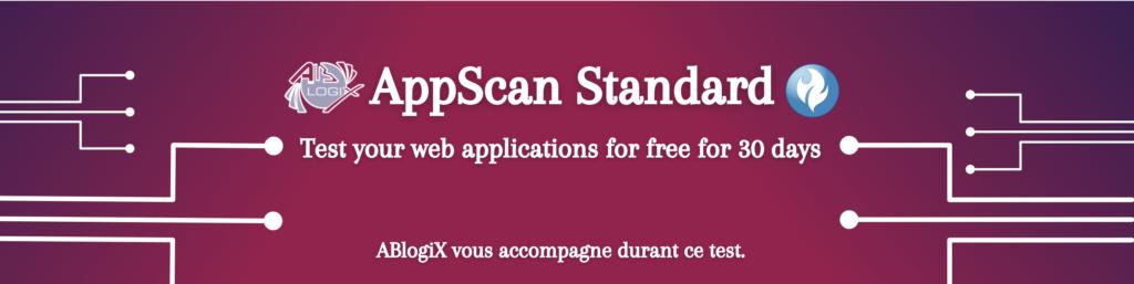 AppScan Standard form banner